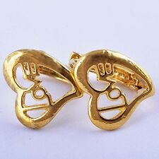 Delightful 9K Real Gold Filled Love Hoop Earring Womens Girls free shipping