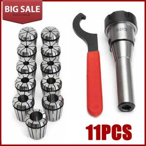 11PCS Spring Collet Set R8 ER32 Shank Chuck Holder Wrench for CNC Milling Lathe