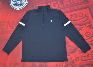 Descente ANTONIO Mens Zip Long Sleeve Pullover Black Outdoor Trekking Casual