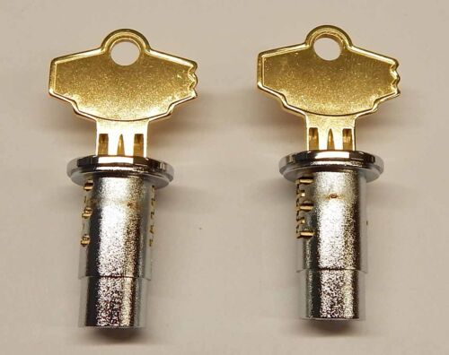 Deluxe Oak Set of 2 Northwestern Gumball Candy Vending Machine Lock /& Keys