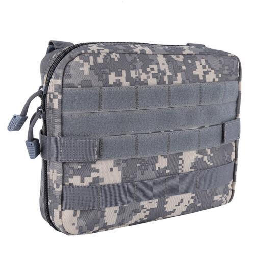 Black Tactical Pouch Large Magazine Organizer Utility Phone Medic Belt Bag EDC