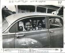 1977 Press Photo Jazz Club Owners Lu Charlie & Celu Bering in Car in New Orleans