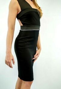 B-NEW-Hoss-Intropia-Black-Dress-Sexy-Dress-Cruise-PARTY-WAS-325-now-19-99