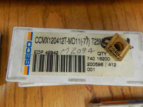 3 SECO CCMX 120412T T25M Carbide Inserts
