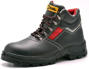 Leather Mens Safety Boots Steel Toe Cap Work Shoes Ankle Size S3 ... 99407aa12