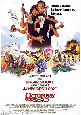 15 x 10cm 1art1 James Bond 007 Octopussy Tarjeta Postal