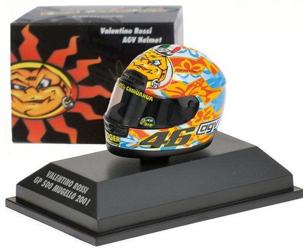 Minichamps Valentino Rossi Helmet - GP 500 Mugello 2001 1 8 Scale