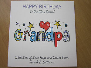 Image Is Loading Personalised Handmade Birthday Card Grandpa 60th 65th 70th