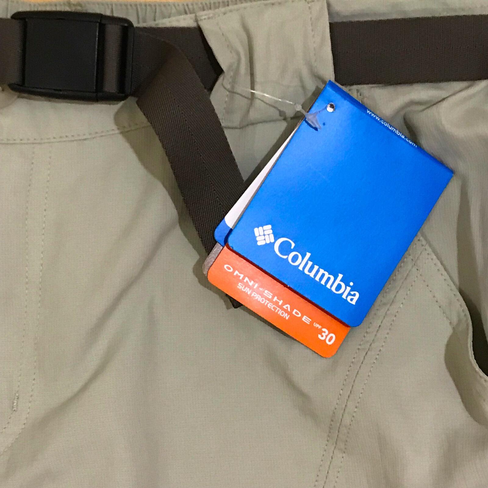 Columbia Omni Shield Shorts Size 10 Women's Long 30 UPF New Khaki