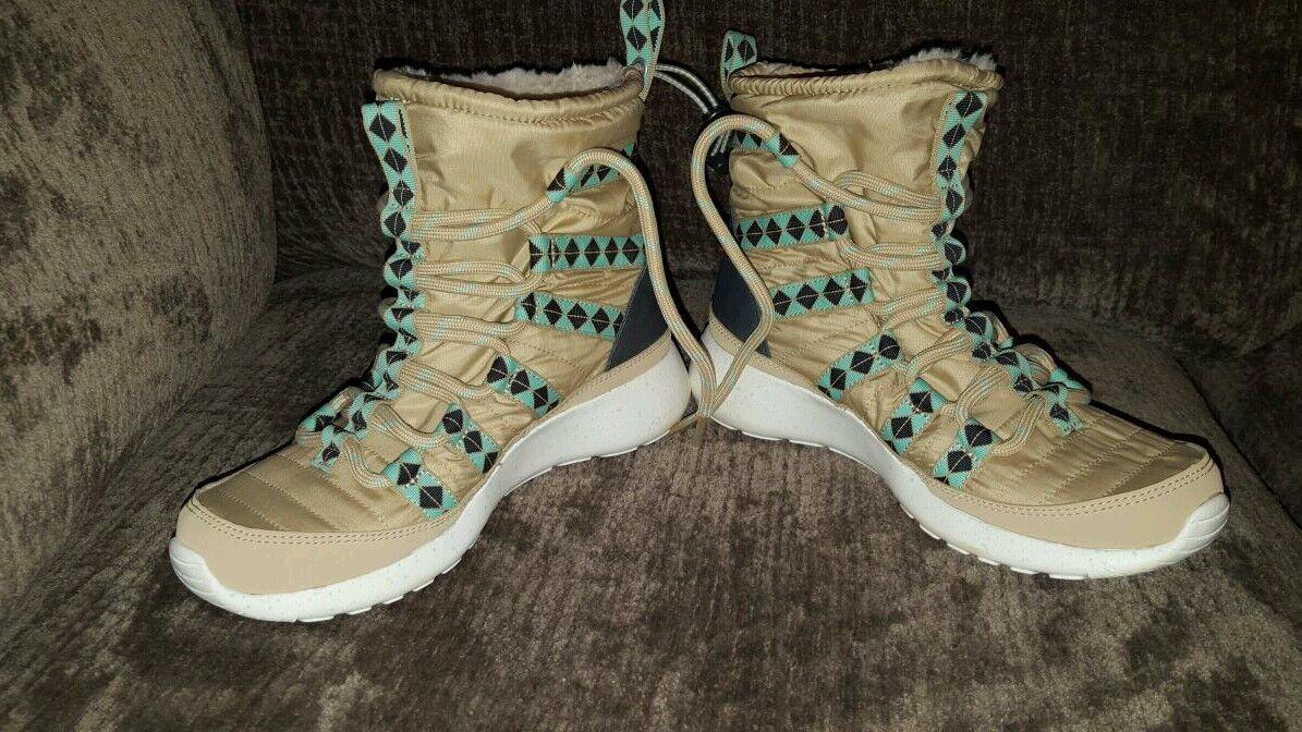 df24a9a1c9a5 Women s Nike Roshe Roshe Roshe One Hi Sneakerboot Size 5.5 Beige Style  172183