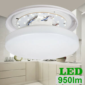 12w Waterproof Led Ceiling Lights 950lm 275mm Lamp For Bathroom Kitchen Hallway Ebay