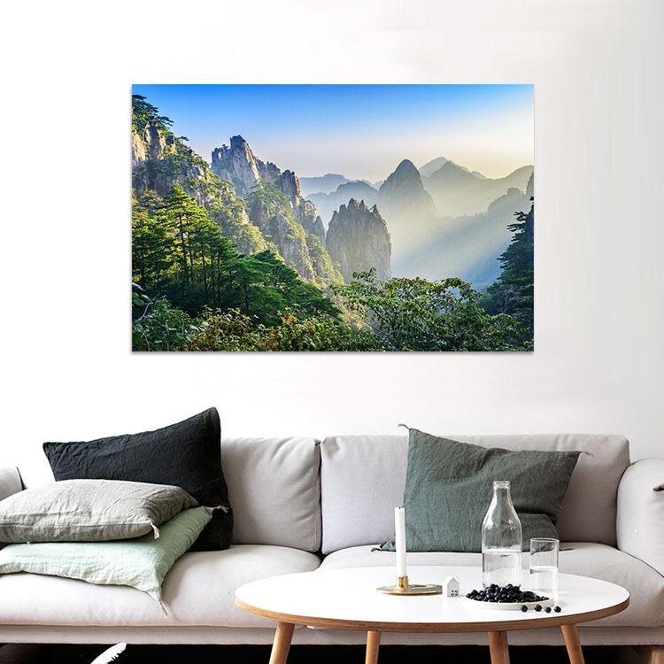 3D Hohe Berge von Nebel 755 Fototapeten Wandbild BildTapete Familie AJSTORE DE