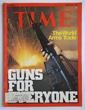 TIME magazine M3 1975 WORLD ARMS TRADE Guns-ISRAEL Shimon Peres-NEW YORKER is 50