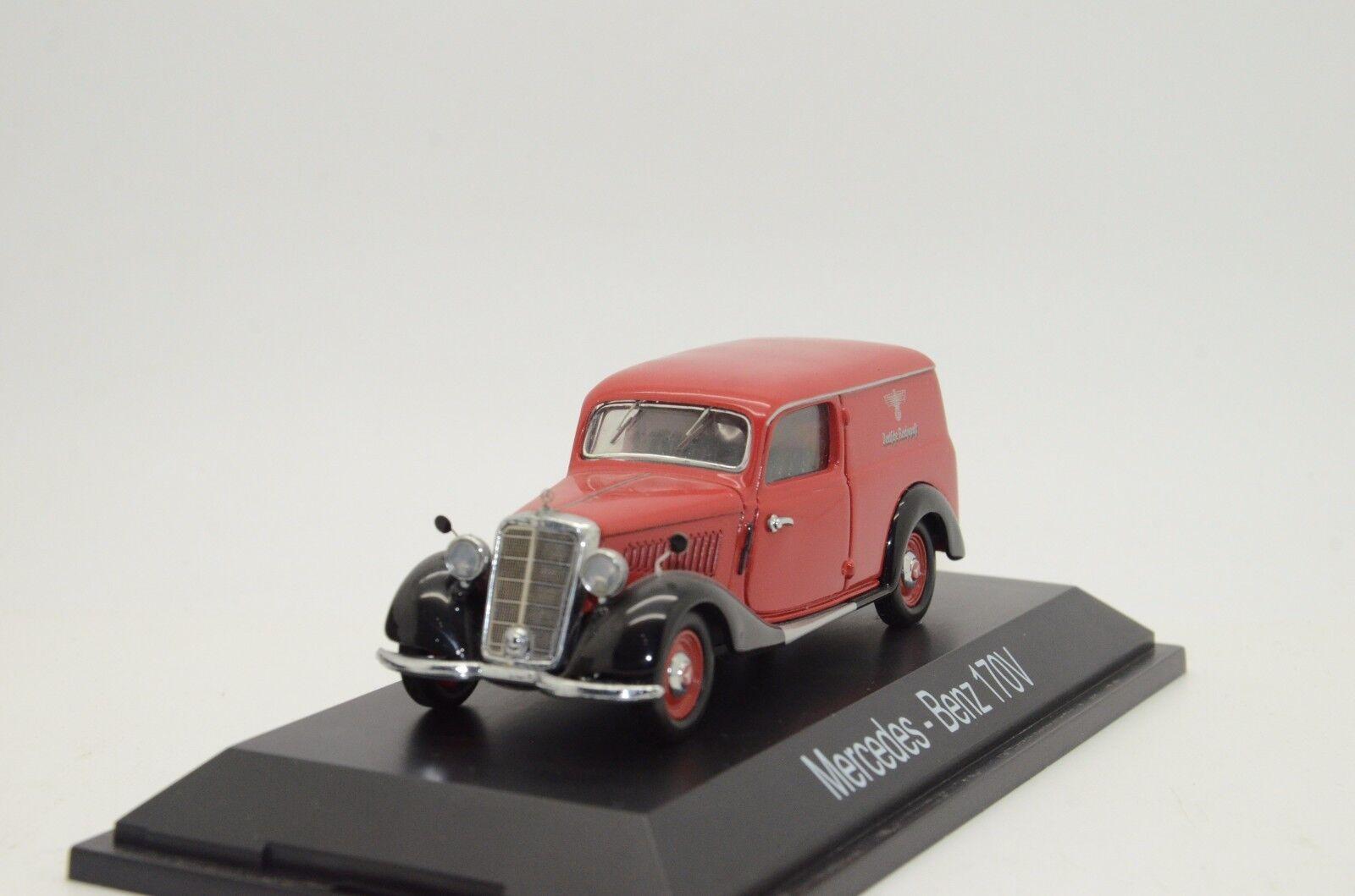è scontato RARE RARE RARE   Mercedes 170V Kastenwagen Deutsche Reichpost Schuco 02253 1 43  il più economico