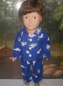 Blue NASA Astronaut Uniform for 18/'/' Doll Clothes American Girl Luciana or Boy
