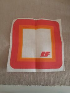 DDR Interflug Tablett rot  Plaste Flugzeug Plastik