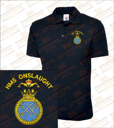 HMS Onslaught  Embroidered Polo Shirts