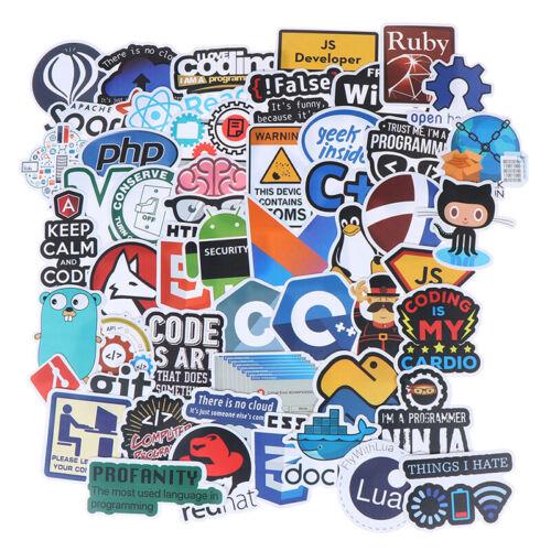 50Pcs Internet Java Stickers Programmer DIY Suitcase Laptop Guitar Car DeV asBW