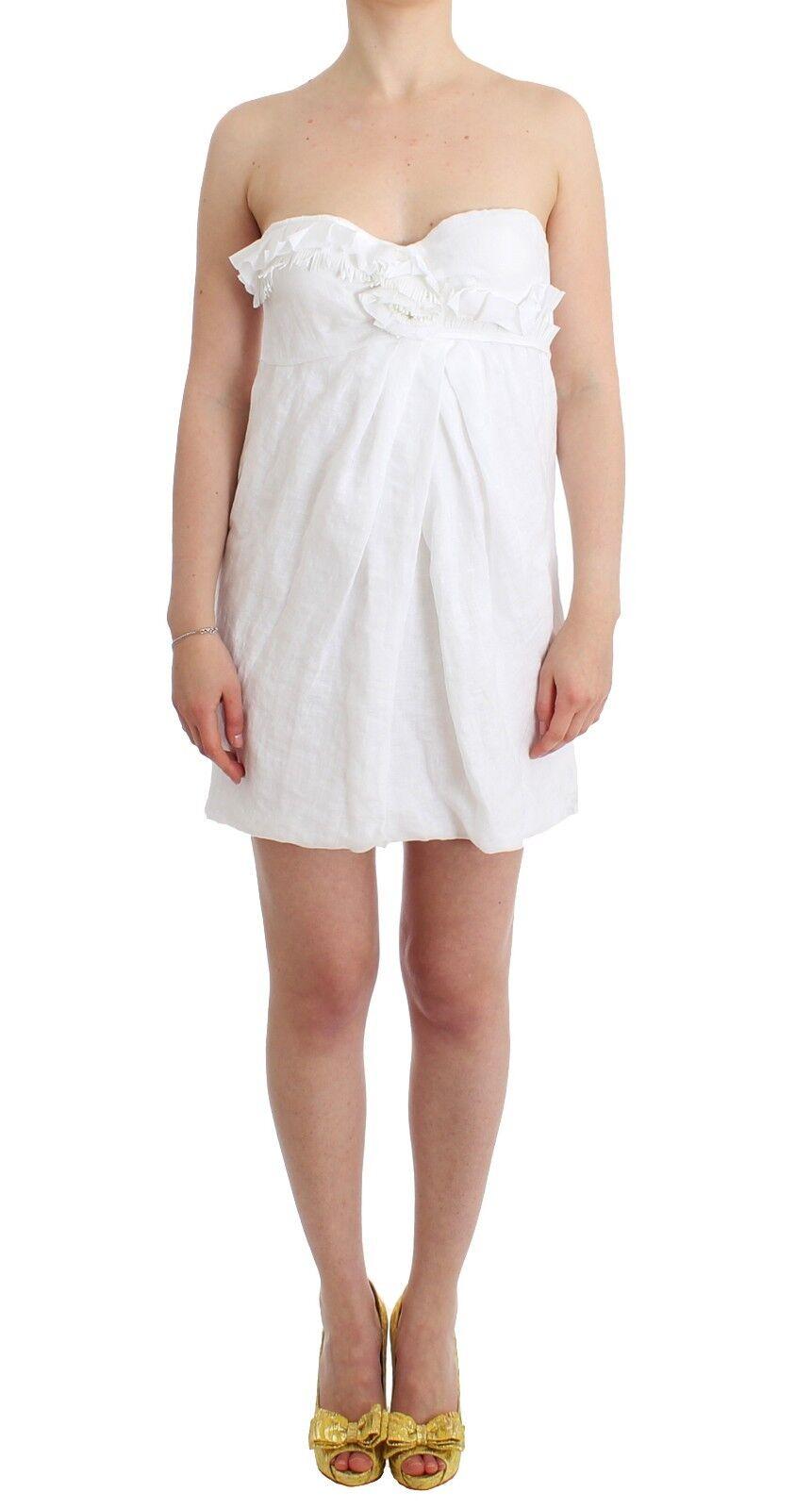 NEW  Ermanno Scervino Dress Beachwear Weiß Beach Bustier Mini IT40 USXS