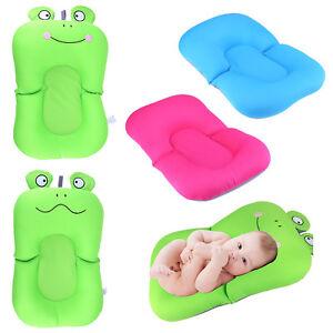 Baby Bath Tub Pillow Pad Lounger Air Cushion Floating Soft