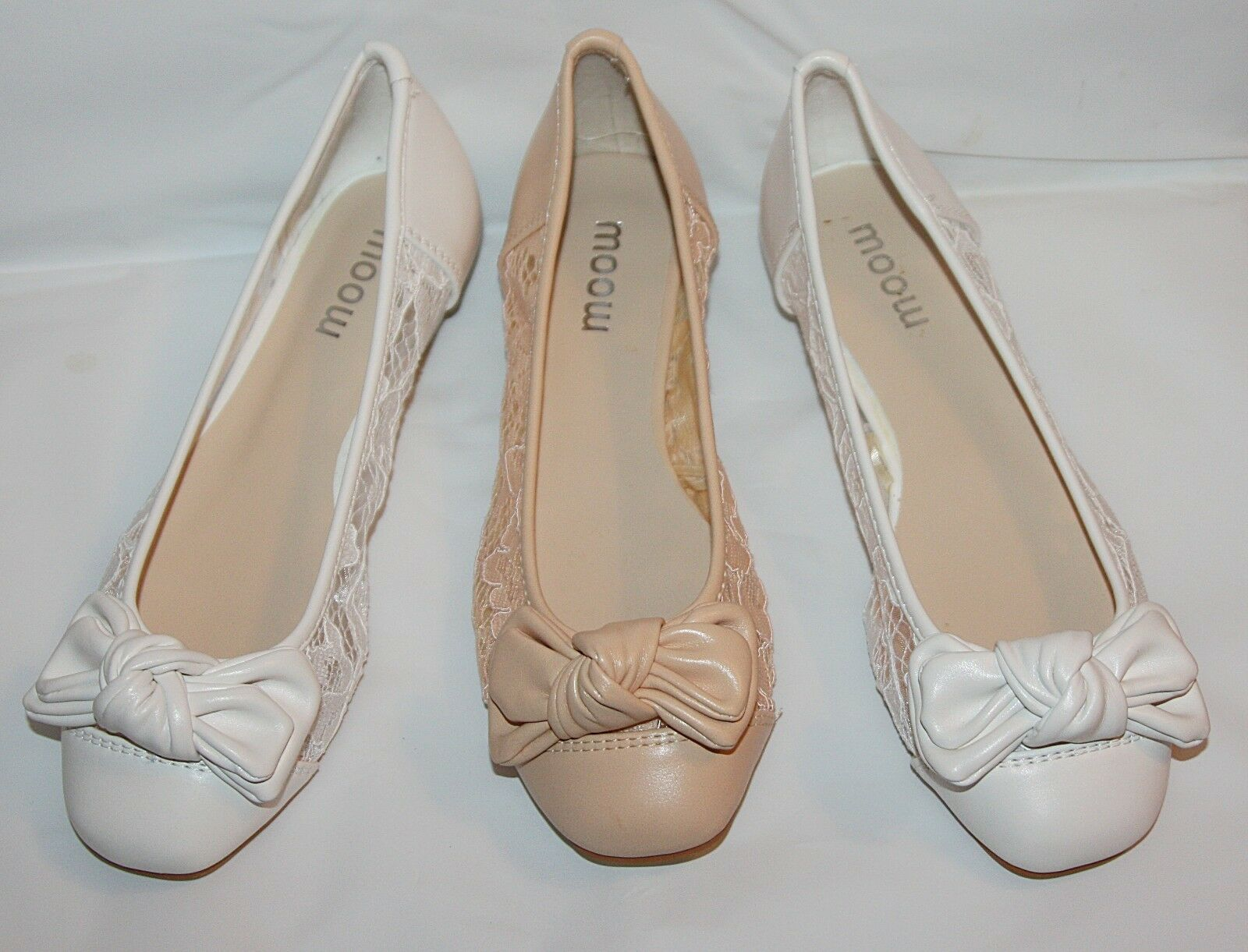 BALLERINA SPITZE BRAUT Zapatos  IN WEISS AUS SPITZE BALLERINA MIT SCHLEIFE LEDER OPTIK BP5191-BA dc0aa5