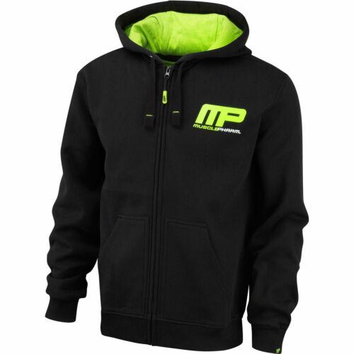 MusclePharm Homme Full Zip Sweat à Capuche Gym Sweat Training MP Sweat à capuche 27/% off RRP
