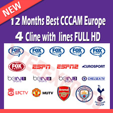 CCCAM SERVER 18$/12Months | 4 LINES FULL HD