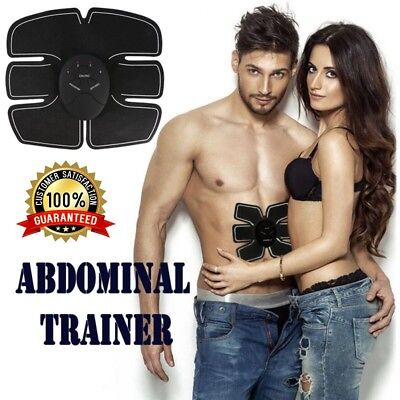 Candid Ems Remote Control Abdominal Muscle Trainer Smart Body Building Fitness Black Abdominal Exercisers Sporting Goods