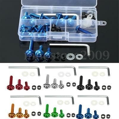 64pcs Motorcycle Sportbike Fairing Bolt Kit Body Fasteners Clip Screws Set
