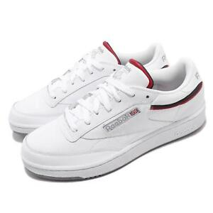 451be4315f4 Reebok Club C 85 MU White Navy Red Men Classic Casual Shoes Sneakers ...