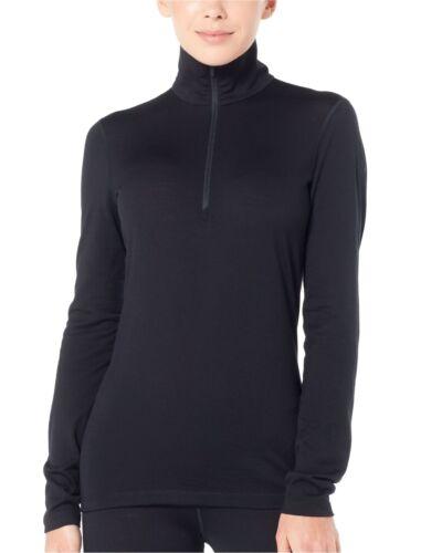 Icebreaker 200 oasis camuflaje half ZIP Women baselayer función camiseta negro