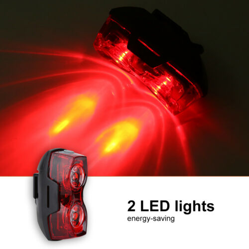 2 LED Mountain Bike Bicycle Cycle Tail Light Red Rear Safety Warning Flash ZH