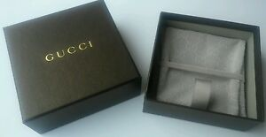 AUTHENTIC GUCCI MONOGRAM JEWELRY RING BRACELET NECKLACE POUCH & BOX