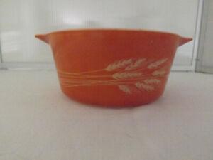 Vintage Pyrex Casserole Dish - Autumn Harvest Pattern