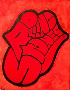 Rolling-Stones-red-tongue-band-logo-signed-by-the-artist-canvas-painting-music