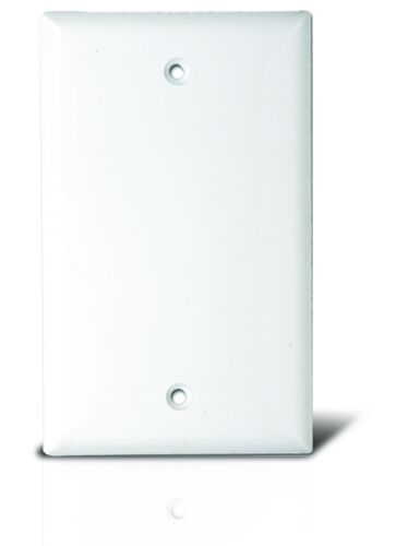 BLANK PLASTIC ELECTRIC BOX WALL COVER PLATE 1 2 3 4 GANG WHITE