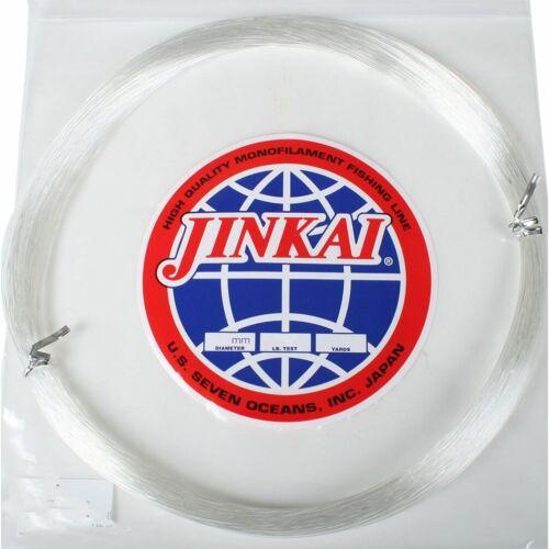 Test 0.81mm ~ Choose Color ~ Jinkai 100 Yards Monofilament Leader Coil 80 Lb