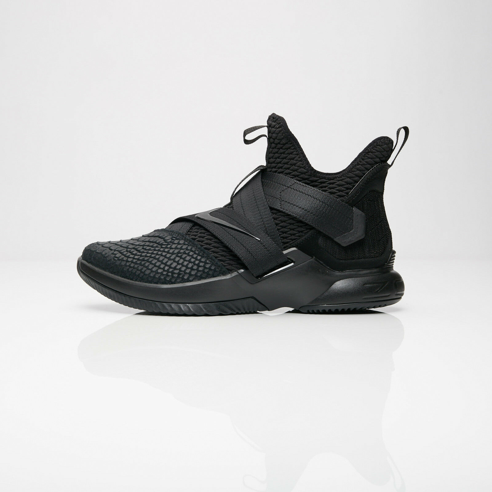 AO4054-003 Nike Lebron Soldier XII SFG Basketball Triple Black Comfortable The most popular shoes for men and women