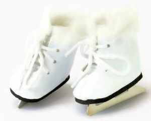 9fc4e9ee2775d White Ice Skates w/Fur Shoes for 14.5 inch American Girl Wellie ...