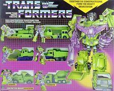 Transformers Devastator G1 6 Decepticons Natale regalo Giocattoli Robot Reissue