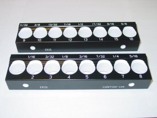 ER25 Collet Storage Rack Size Engravings! 2BL2 Collet Holder Tray Stand Set