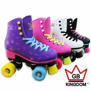 Kingdom-GB-Venus-V2-Quad-Roller-Skates-Disco-Girls-Women-039-s-Retro-Derby-Skates