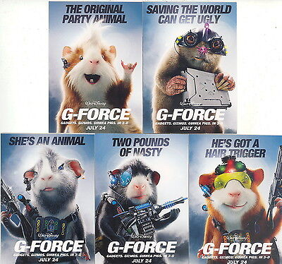 G Force Movie 2009 Gadgett Gizmos Guinea Pigs Disney Complete Promo Card Set Ebay