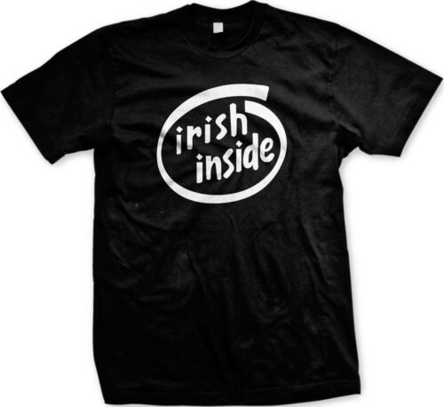 Irish Inside Ireland Pride Clover Shamrock St Patricks Day Lucky Mens Tshirt