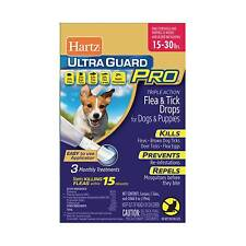2 Hartz Ultra Guard Pro Flea Tick Treatment Dogs And Puppies 15 To