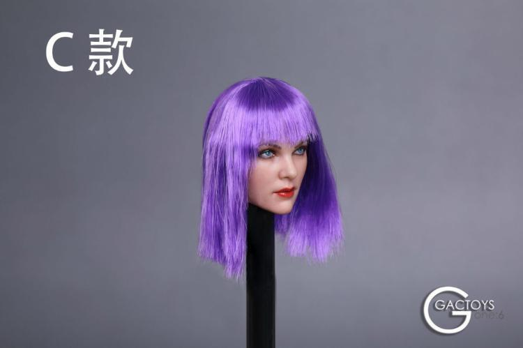 GACTOYS GC019C Cool Cool Cool Girl Head Carved Figure Model F 12  Female PH Body 26b3a2