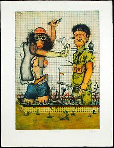 Kritischer-Realismus-1973-GROSSE-Rad-Wolfgang-PETRICK-1939-D-handsigniert