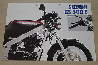 170201) Suzuki Gs 500 E Prospekt 198? Ausgezeichnet Im Kisseneffekt