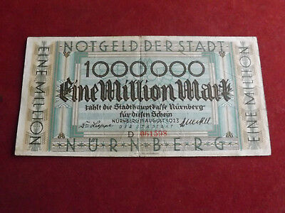 *notgeld Stadt Nürnberg 1 Million Mark 1923(alb3)