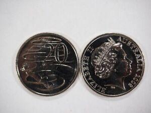 2008-Australia-20-Twenty-Cent-Coin-ex-bag-UNC-C-313